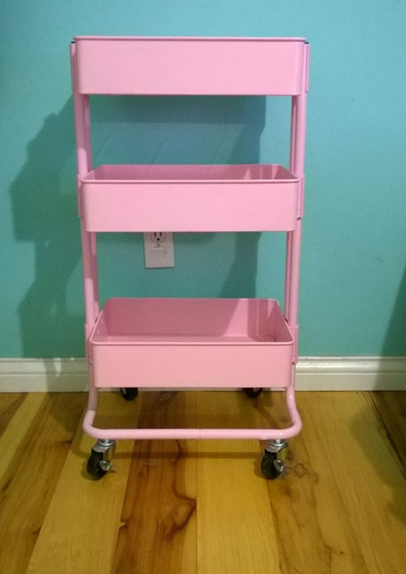 Ikea Raskog Utility Cart Pink